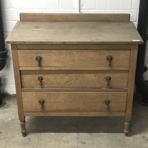 Vintage Antique 3 Drawer Dark Wood Chest Of Drawers/Dresser - 110121-04