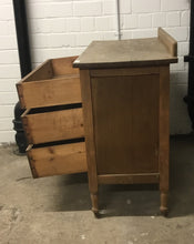 Load image into Gallery viewer, Vintage Antique 3 Drawer Dark Wood Chest Of Drawers/Dresser - 110121-04