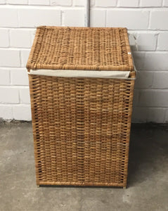Wicker Laundry Hamper With Lid & Removable Liner Bag - 140121-01