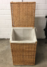 Load image into Gallery viewer, Wicker Laundry Hamper With Lid & Removable Liner Bag - 140121-01