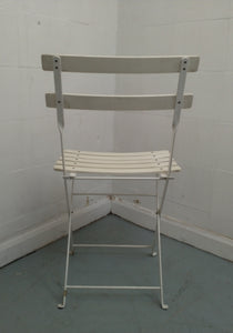 Pavement-Style Metal Folding Chair, White - 060421-07