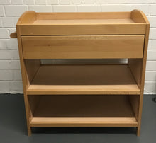 Load image into Gallery viewer, MOTHERCARE Wood Baby Changing Table/Dresser With 1 Drawer & 2 Shelves - 176570