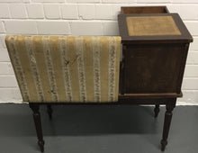 Load image into Gallery viewer, Vintage Antique Telephone Bench Seat With Storage  - 183244