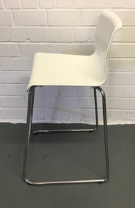 IKEA GLENN Bar Stool, White & Chrome-Plated - 184338