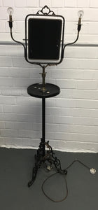 Vintage Retro Floor Lamp With Built-In Companion Table & Mirror - 170321-01