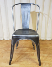 Load image into Gallery viewer, Distressed Finish Grey Metal Chair