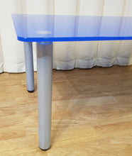 Load image into Gallery viewer, Blue Glass Coffee Table - Detachable Metal Legs