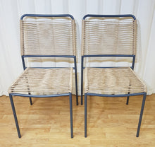 Load image into Gallery viewer, Stacking Garden Chairs Blue & Flecked Beige - Set of Two