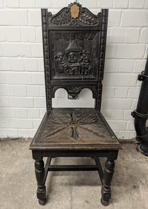 Vintage Ornate Solid Wood Hand Carved Chair