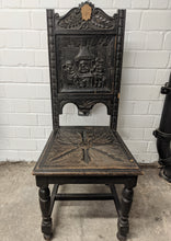 Load image into Gallery viewer, Vintage Ornate Solid Wood Hand Carved Chair