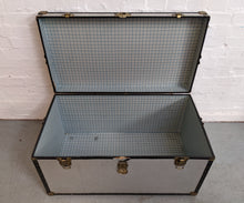 Load image into Gallery viewer, Vintage-Style Steamer Storage Trunk, Silver Alloy - 290321-09