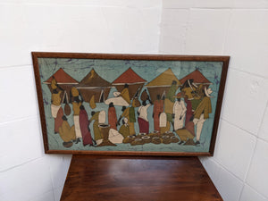 Framed Painting Of African Scene, Signed By Artist, Wall Art - 290321-20