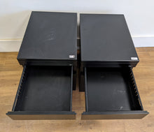 Load image into Gallery viewer, 2 x Metal 3-Drawer Filing Cabinets, Black - 600389/600390