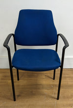 Load image into Gallery viewer, Fabric Office/Lounge Chair With Metal Frame, Blue - 290421-02