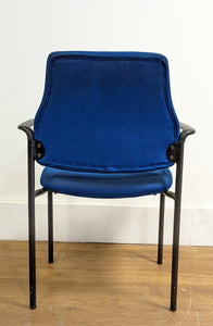 Fabric Office/Lounge Chair With Metal Frame, Blue - 290421-02