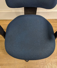 Load image into Gallery viewer, High-Back Operator Chair With Height Adjustable Arms, Blue - 290421-03