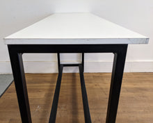 Load image into Gallery viewer, Contemporary High Kitchen Table/Bar Table/ Breakfast Bar, White/Black - 185786