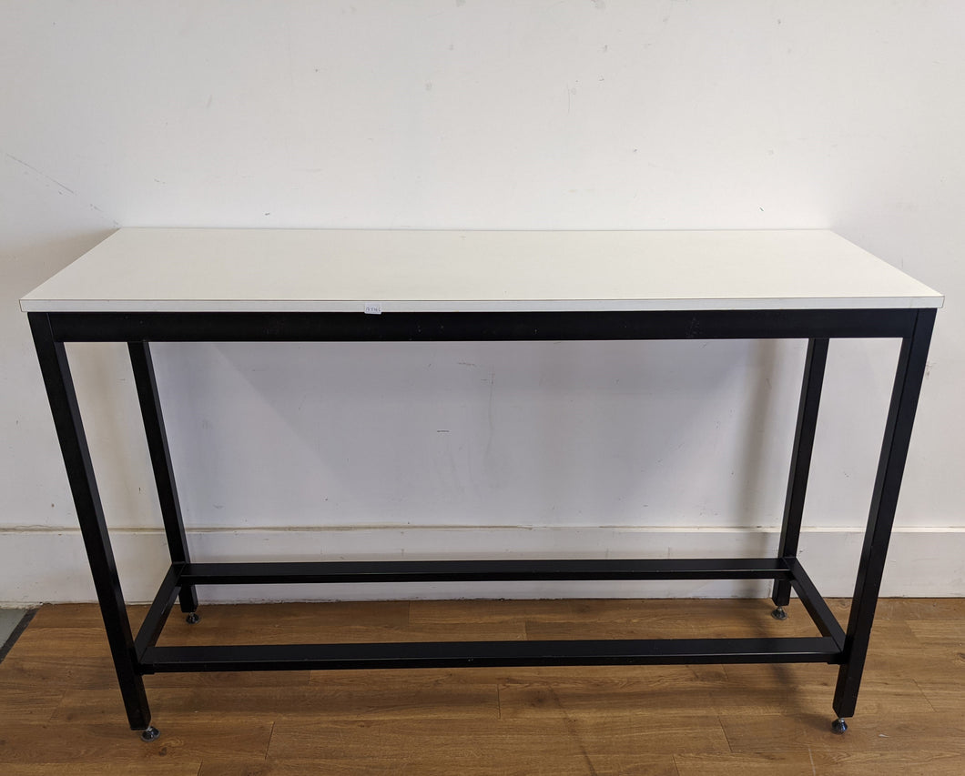 Contemporary High Kitchen Table/Bar Table/ Breakfast Bar, White/Black - 185786