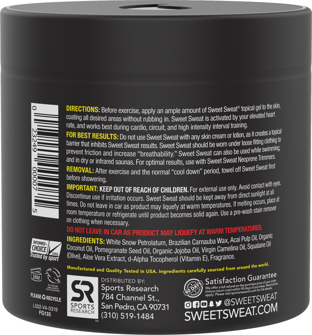Sweet Sweat XL Jar, 383g (13.5 oz)