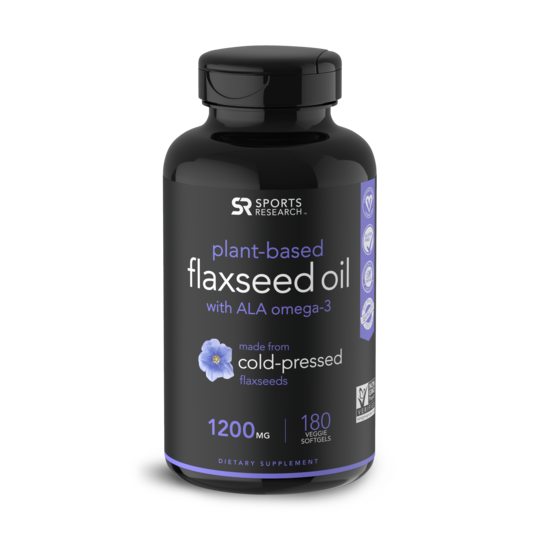 Flaxseed Oil, 1200mg, 180 Veggie Softgels