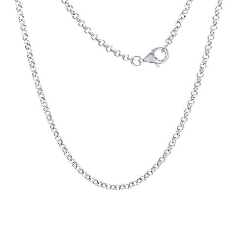 18-Inch Rhodium Plated Necklace with 4mm Amethyst Birthstone Beads and Sterling Silver Trinity Irish Knot Charm.