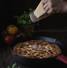 Load image into Gallery viewer, Stove & Dove Cast Iron Skillet with Silicone Handle 12.5 Inch