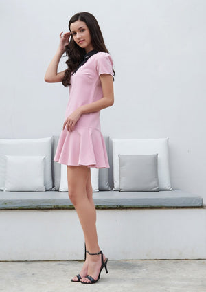 Load image into Gallery viewer, Ohayo เดรสแขนสั้นคอแต่งโบว์ | Short Sleeve Dress with Bow Collar (5160128577676)