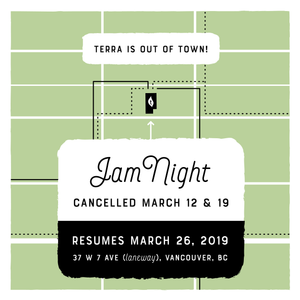 March 12 & 19, 2019 - No Jam Night!