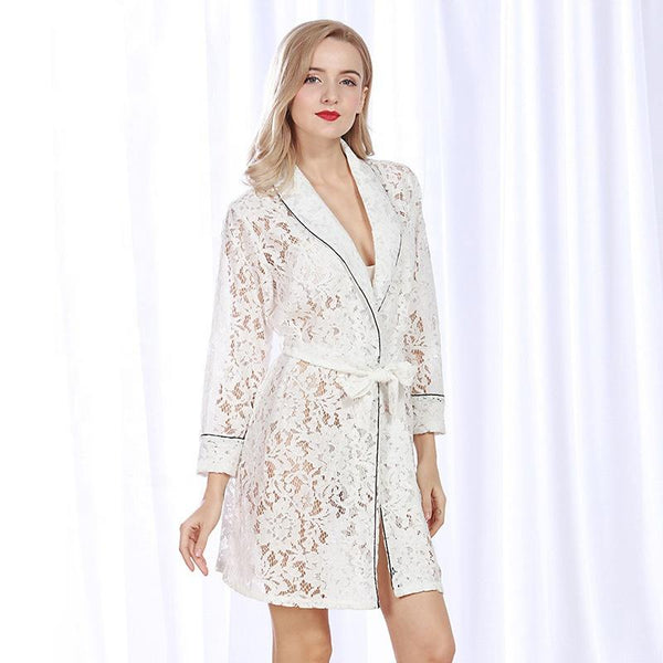 Short lace bridal robe - The Bridal House