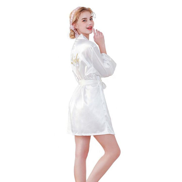 Short Bridal Robes white - The Bridal House