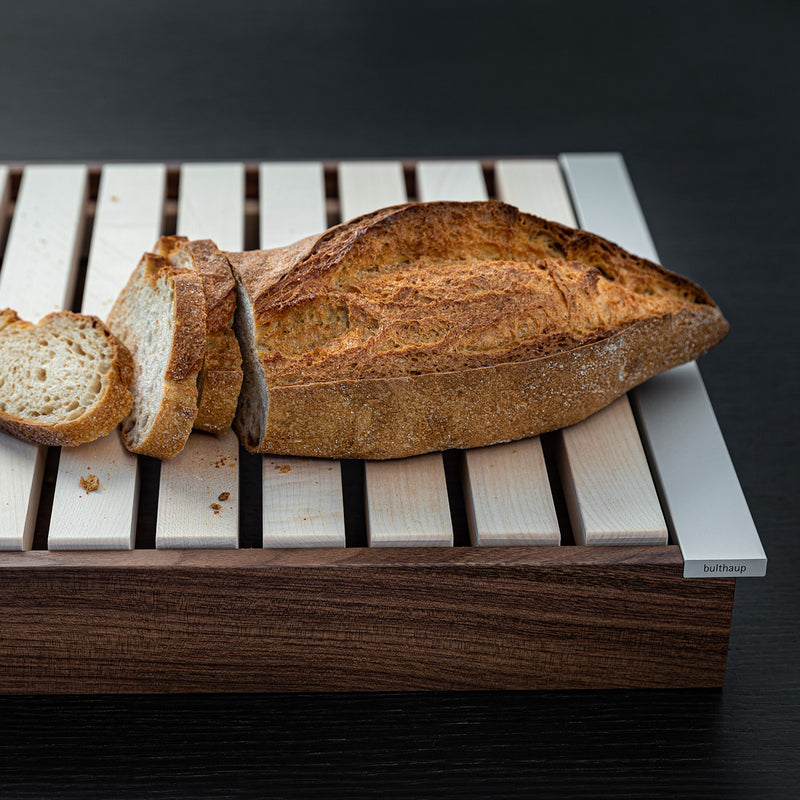 perfect kitchen aid: bulthaup tray and bread cutting board in one