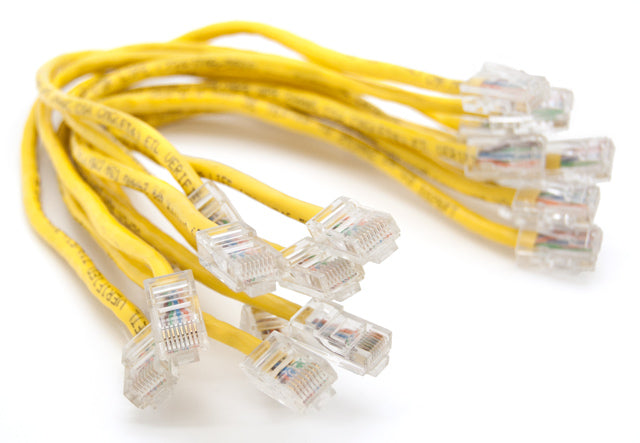 "10 Pack Black Box Corporation 11"" GigaBase 350 CAT5e Yellow Patch Cable"