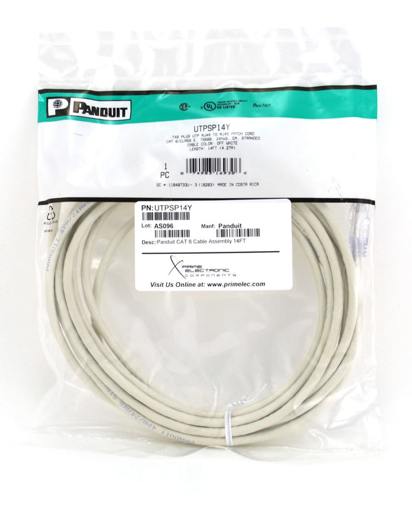 Panduit Cat6 Cat 6 14 Foot UTP Patch Cable UTPSP14Y