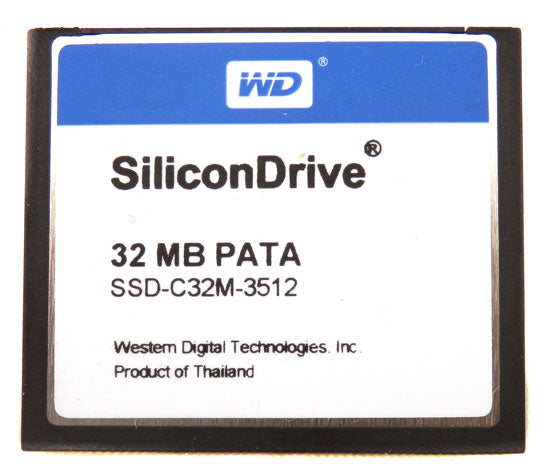 Western Digital SiliconDrive 32 MB Commercial Compact Flash Card SSD-C32M-3512