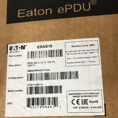 Eaton ePDU Rack Mountable Power Distribution Unit 12 AC Outlet EBAB19