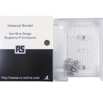 10 Pack - DesignSpark Clear Mounting Bracket for Raspberry Pi 3 ASM-1900048-01