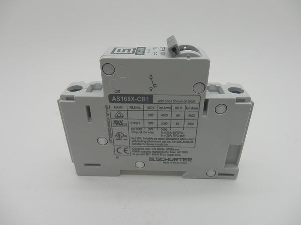 Schurter Thermal Magnetic Circuit Breaker 15A 4420.0675 AS168X-CB1H150