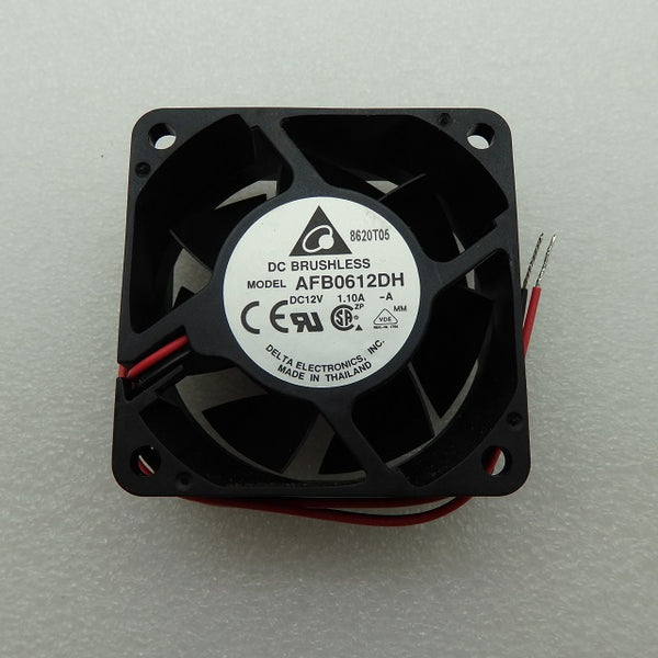 Delta Electronics 12V 1.10A 60x60x25mm 2-Wire DC Brushless Fan AFB0612DH