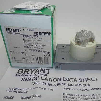 Bryant FCL Series Snap-Lid Covers 70520MBWP