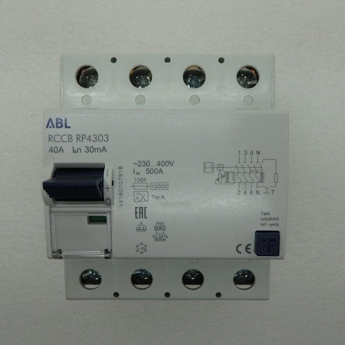 Altech Corp 40A Max 30mA Fault Trip Current 4-Pole Circuit Breaker RP4303