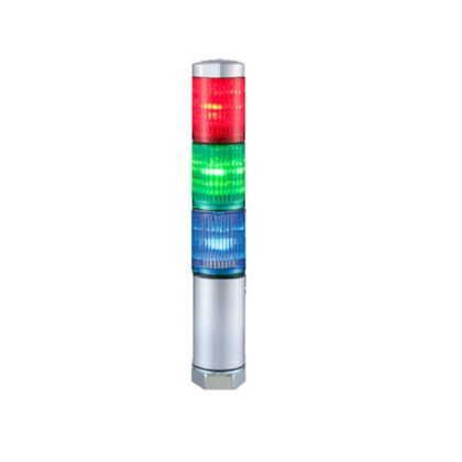 Patlite 30mm 24VAC/VDC NPN/PNP Open Collector Continuous Light Tower MPS-302-RGB