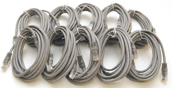 10 Pack of 10 Foot Cat5e Ethernet Patch Cables Cat5 54-272605-01-10