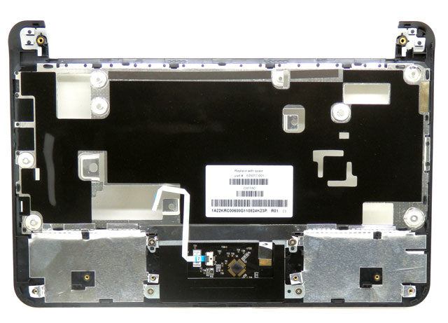 HP Mini 210 Silver Palmrest with TouchPad Assembly 635012-001