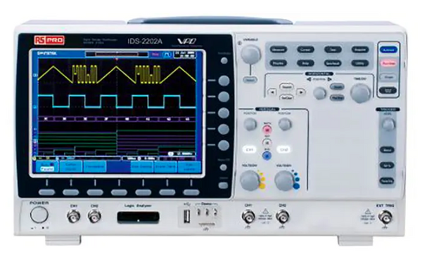 RS Pro 300MHz 4-CH Multi-Lingual Digital Storage Oscilloscope IDS-2304A 124-1954