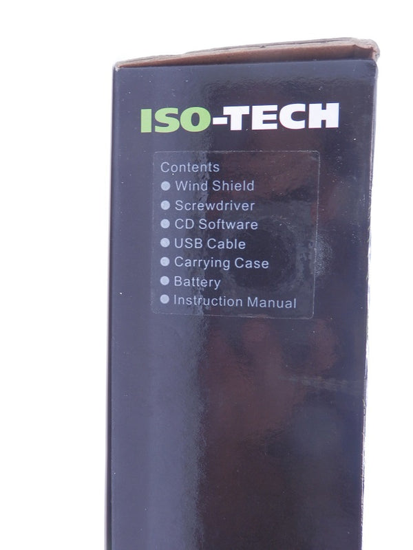 ISO-TECH 8kHz 30dB-130dB Sound Level Meter Data Logging With Case/Tools SLM1353M