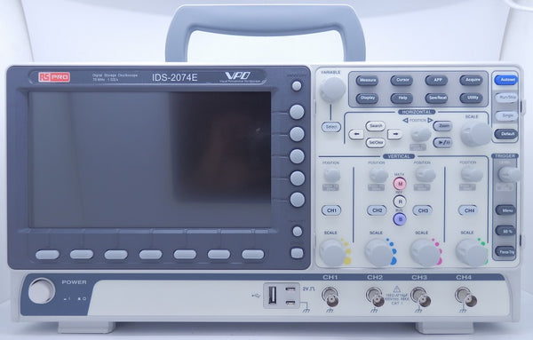 RS Pro 4-Channel 1 GS/s 70MHz Digtal Storage Oscilloscope IDS-2074E 124-0233