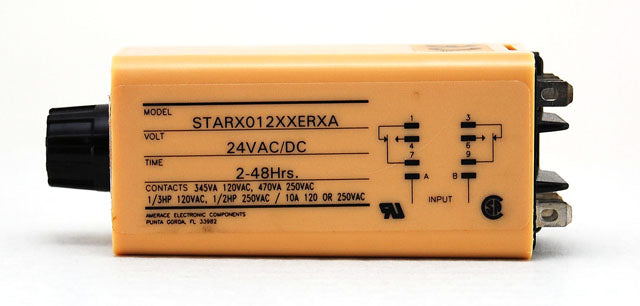 Agastat Tyco 24V 2-49 hour Timing Relay STARX012XXERXA