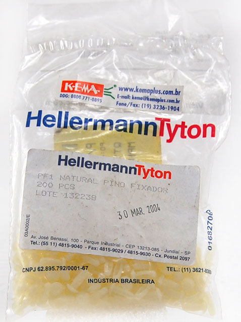 HellermannTyton PF1 Natural Plug Fix 200-pack 17H0456