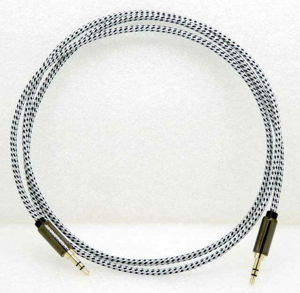 MediaBridge 4FT Tangle-Resistant 3.5mm Male to Male Audio Cable MPC-35-4TWH/BK
