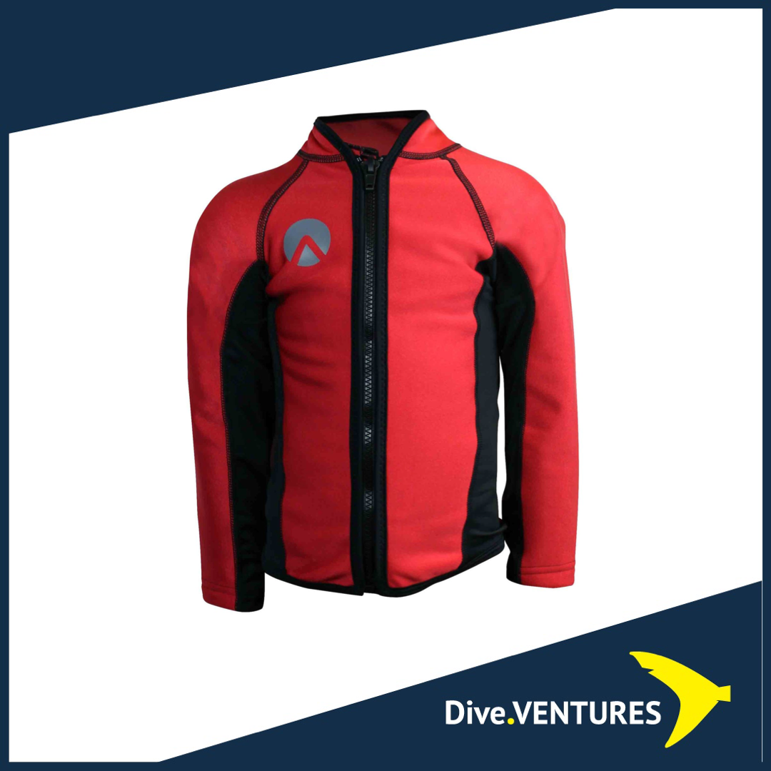 Sharkskin Chillproof Long Sleeve Junior Red | Dive.VENTURES